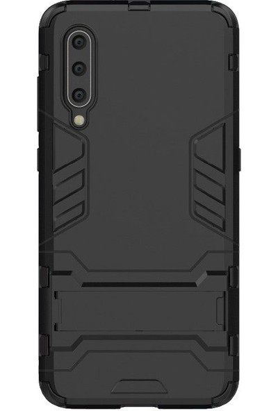 Microcase Xiaomi Mi 9 Se Alfa Serisi Armor Standlı Koruma Kılıf - Siyah