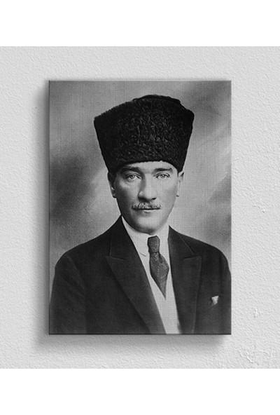 Moda Duvar Atatürk Portre Kanvas Tablo