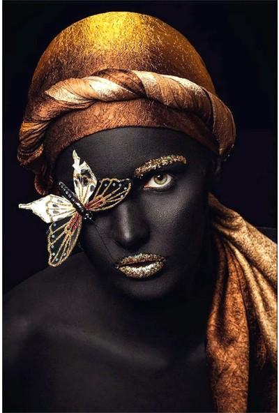 Vizyon Sanat Afrikalı Siyahi Kadın Kanvas Tablo