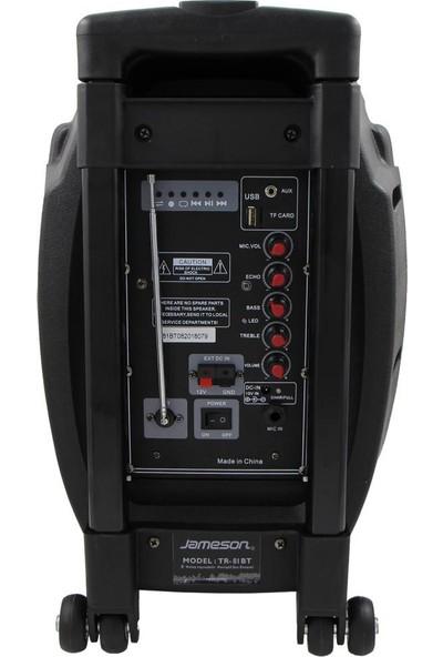 Jameson Tr-81Bt Portatif Hoparlör Kumandalı Mikrofonlu