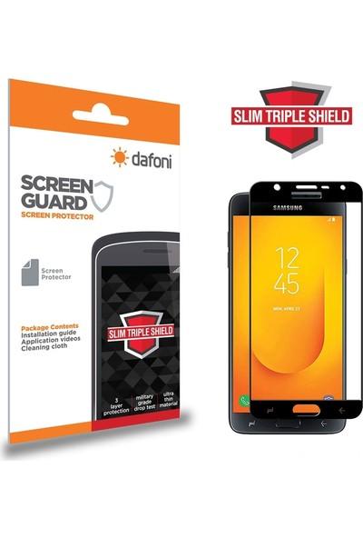 Dafoni Samsung Galaxy J4 Curve Slim Triple Shield Siyah Ekran Koruyucu