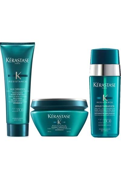 Kerastase Resistance Therapiste Aşırı Yıpranmış Saçlar İçin Şampuan 250ML+MASKE 200ML+SERUM 30ML