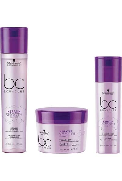 Schwarzkopf Bc Keratin Mükemmel Kontrol Şampuanı 250ML+MASKE 200ML+KREM 200ML