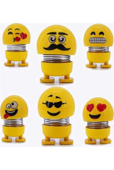 Pi İthalat Zıp Zıp 6 Li Set Çılgın Kafalar Sevimli Kafa Sallayan Emojiler