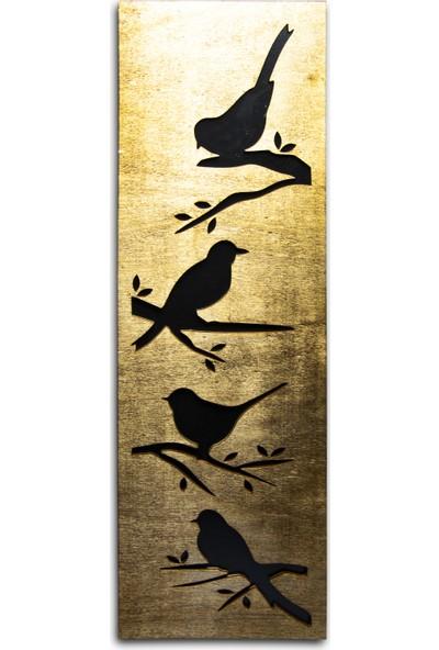 Halk Kitabevi Kuş Figürlü Ahşap Tablo