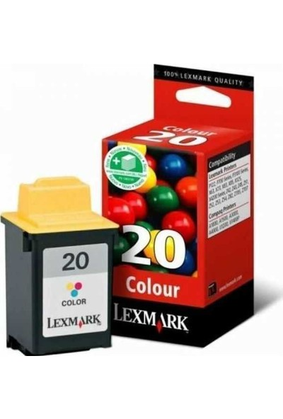 Lexmark 15MX120E Renkli Kartuş 20