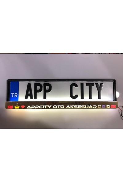Appcity Gold Zemin Lüks Işıklı Plakalık