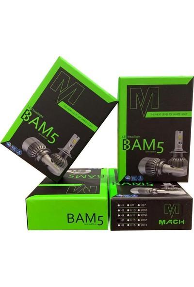 Appcity Mach Bam5 Pro H4 Led Xenon Şimşek Etkili Beyaz - 6400 Lm 6000K