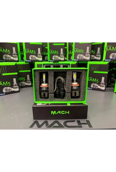 Mach Bam5 Pro H27 Led Xenon Şimşek Etkili Beyaz - 6400 Lm 6000K