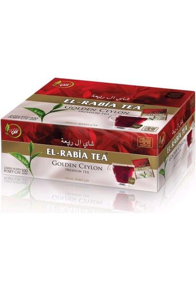 El Rabia Tea Golden Ceylon Bardak Poşet Çay 100X2 gr
