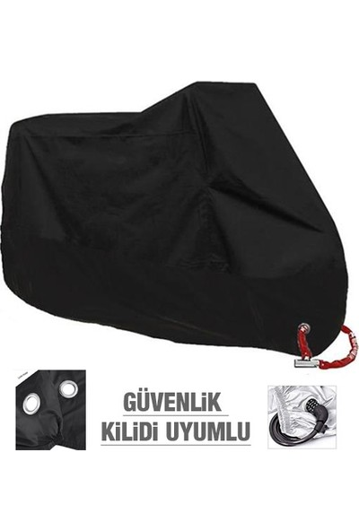 Autoen Premium Mobylette Endru Arka Çanta Uyumlu Motosiklet Brandası Siyah