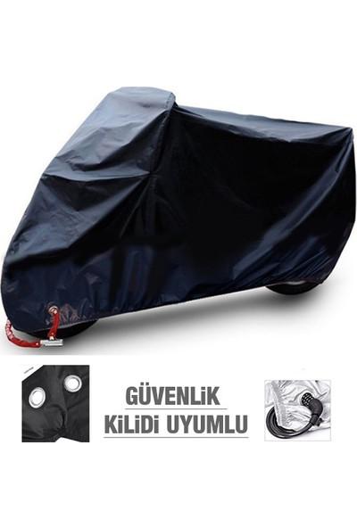 Autoen Premium Suzuki Vl 1400 Intruder Arka Çanta Uyumlu Motosiklet Brandası Siyah