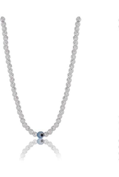 Söğütlü Silver Dorica Nazarlı Kolye
