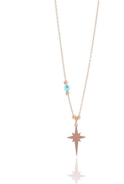 Söğütlü Silver ENT-SGTL8861 Gümüş Dorica Toplu Kutup Yıldızı Kolye