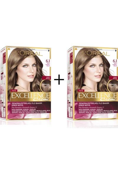 L'Oréal Paris Excellence Creme Saç Boyası 6.1 Koyu Kumral Küllü x 2