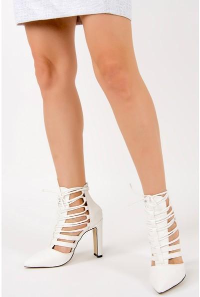 Fox Shoes Beyaz Kadın Topuklu Ayakkabı F281201609