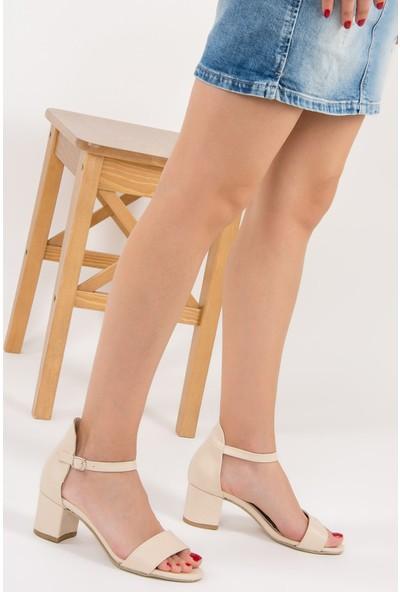 Fox Shoes Ten Kadın Topuklu Ayakkabı F283286509