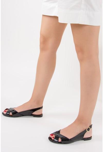 Fox Shoes Siyah Kadın Sandalet F726106608