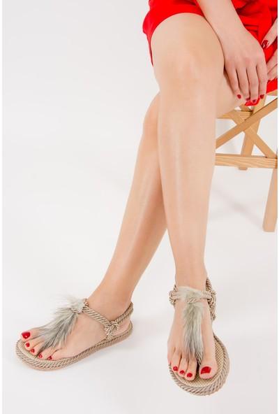 Fox Shoes Ten Kadın Sandalet F838241004