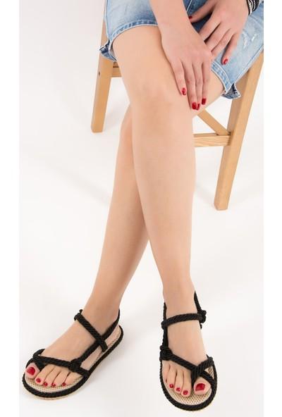 Fox Shoes Siyah Kadın Sandalet F838243604