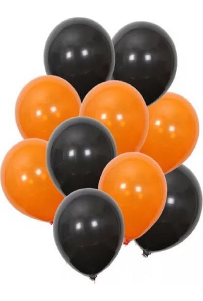 Roll-up Turuncu-Siyah Balon Demeti 20 Parça