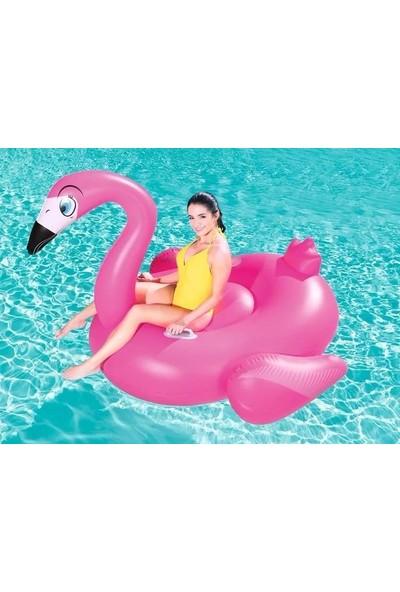 Bestway Super-sized Pembe Flamingo Binici