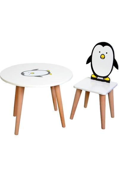 Li̇labebe Çocuk Aktivite Masası 60 x 60 Yuvarlak Masa + 1 Sandalye