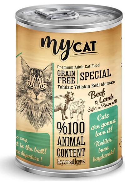 Mycat Tahılsız Sığır ve Kuzu Etli Konserve Kedi Maması 24 Adet