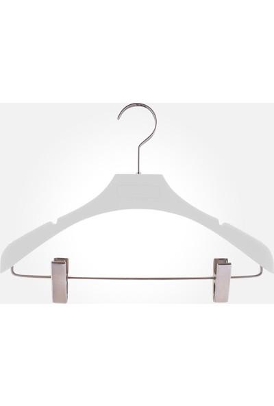Akal Batu Abas Soft Touch Kaplamalı Barlı Mandallı Elbise Askısı