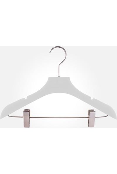 Akal Batu Abcs Soft Touch Kaplamalı Barlı Mandallı Elbise Askısı