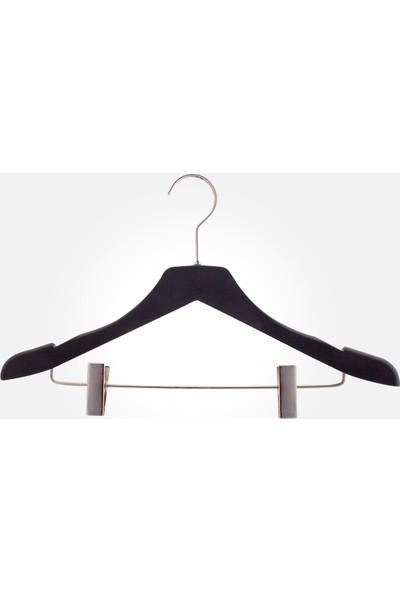 Akal Batu Bps Soft Touch Kaplamalı Barlı Mandallı Elbise Askısı