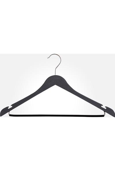 Akal Batu Dbp Ahşap Dokulu Dolgulu Barlı Elbise Askısı