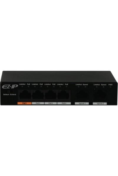 Ez-Ip SW3006-4ET-P60 4 Port Poe 60W 1 Uplink Yönetilmez Switch