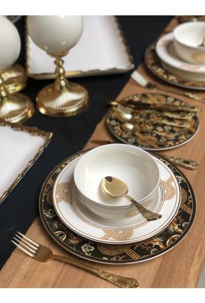 Lucky Art Rosalind LYEG010 24 Parça 6 Kişilik Günlük Yemek Takımı