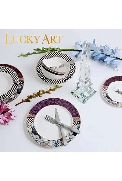 Lucky Art Tania LYEG004 24 Parça 6 Kişilik Günlük Yemek Takımı