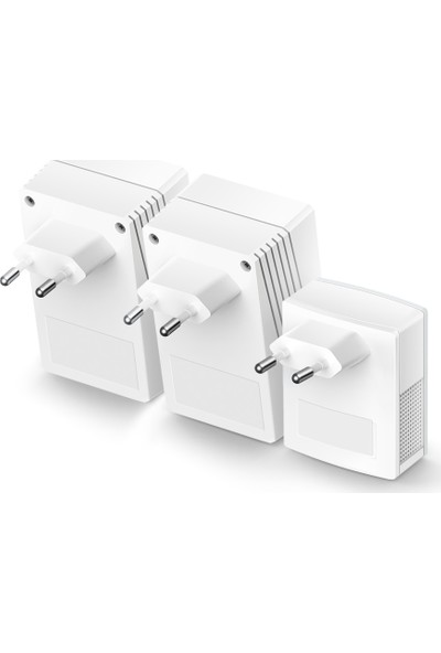 TP-Link TL-WPA4220TKIT AV600 300Mbps Kablosuz Tak Kullan 2 LAN Portlu 300m Mesafeli Menzil Genişletici 3'lü Powerline Adaptör