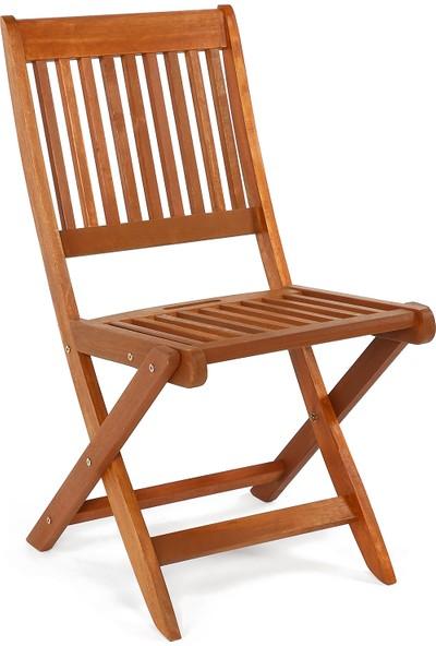 Hepsi Home Masif Ahşap Sandalye Katlanır Bahçe Sandalyesi Balkon Bahçe Sandalye