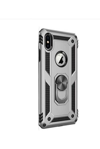 Gpack Apple iPhone Xs Max Kılıf Vega Standlı Yüzüklü Mıknatıslı