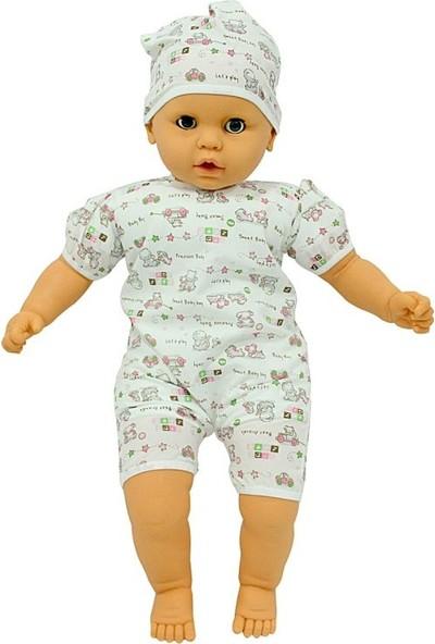 Sunman Denis Sesli Saçsız Et Bebek Beyaz Takımlı