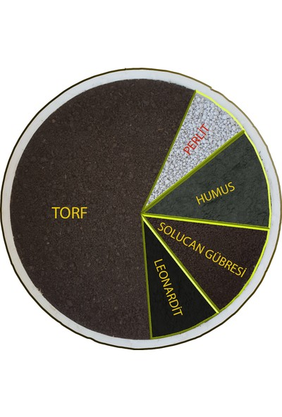 Bitbest Bio Kaktüs Lithops ve Succulent Toprağı 4'lü 5 lt