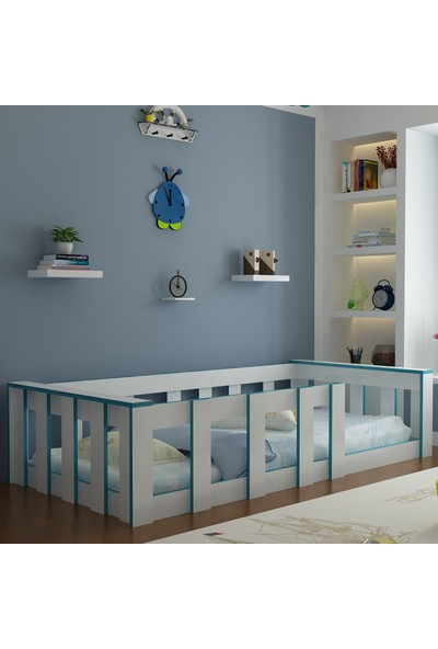 Herşeycik Y21 Elit Montessori Karyola Mavi