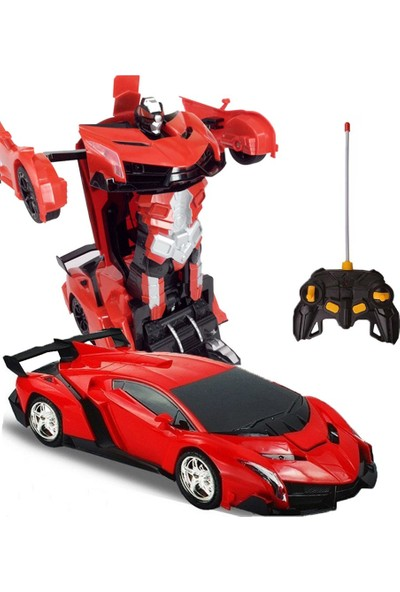 Beyazkuş Ticaret Uzaktan Kumandalı Şarjlı Robota Dönüşen Oyuncak Araba Ferrari