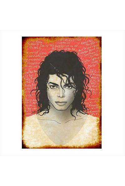 Tablomega Ahşap Tablo Michael Jackson Temalı