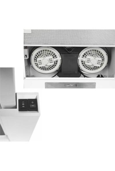 Arnica 460M³ Eg51020 Beyaz Çift Motorlu Sürgülü Aspiratör