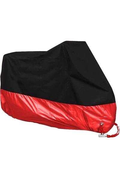 Autoen Premium Honda Fes 250 Foresight Arka Çanta Uyumlu Motosiklet Brandası Siyah-Kırmızı