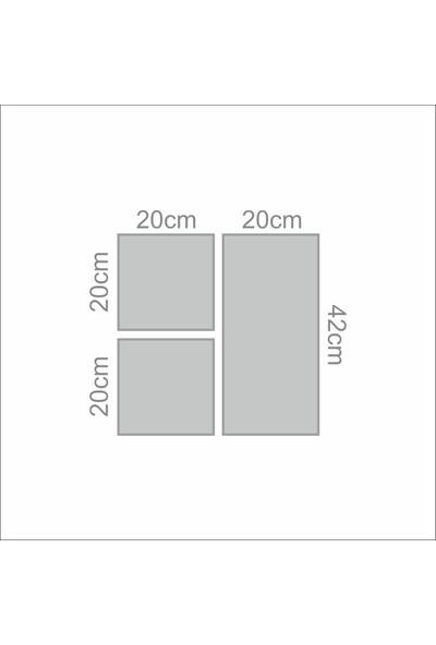 Stüdyo Neo Fil - Modern Çerçeveli Duvar Tablosu - Metalik Görünümlü Ahşap Estetik Çerçeveli