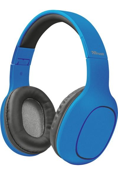 Trust 22890 Dona Kablosuz SD Kart Girişli Bluetooth Kulaküstü Kulaklık - Mavi