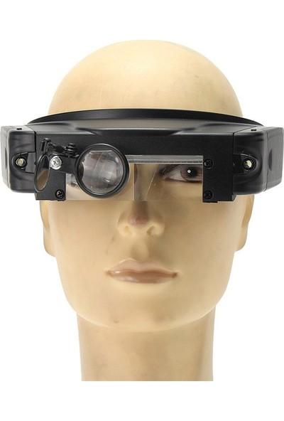 Microcase Ayarlanabilen Gözlük Tipi Işıklı Kafa Büyüteci 3 Farklı Lens - Model No : Al2320