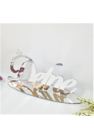Baby Lüks Ayna İsimlik Masaüstü Pleksi İsimlik Söz İsimlik Nişan İsimlik 30 cm