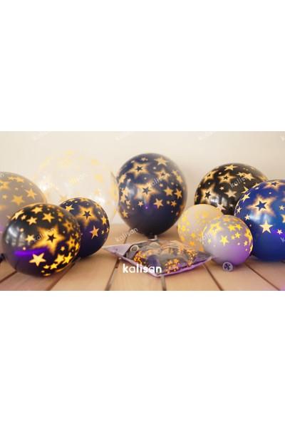Kalisan Neon Yıldız Baskılı Balon 25 Adet